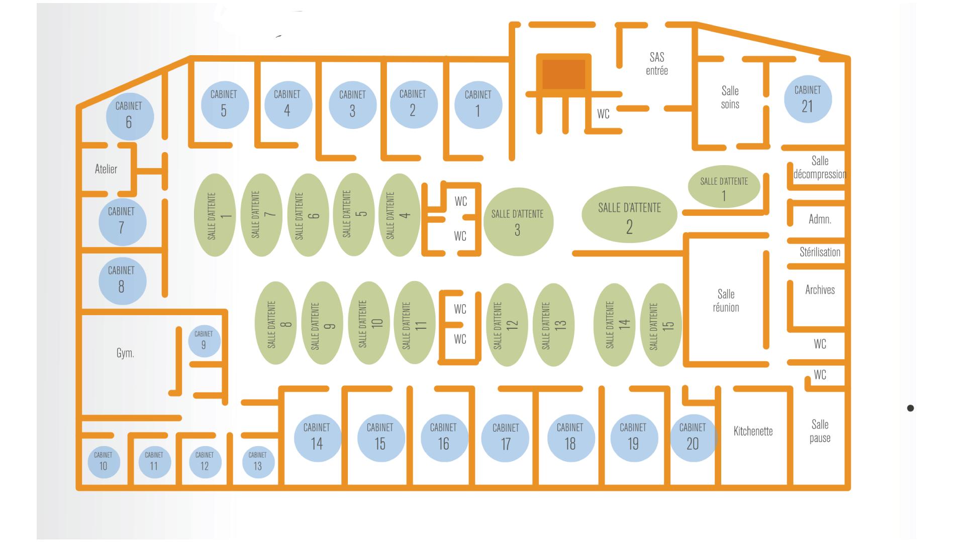 Plan de la maison pluriprofessionnelle