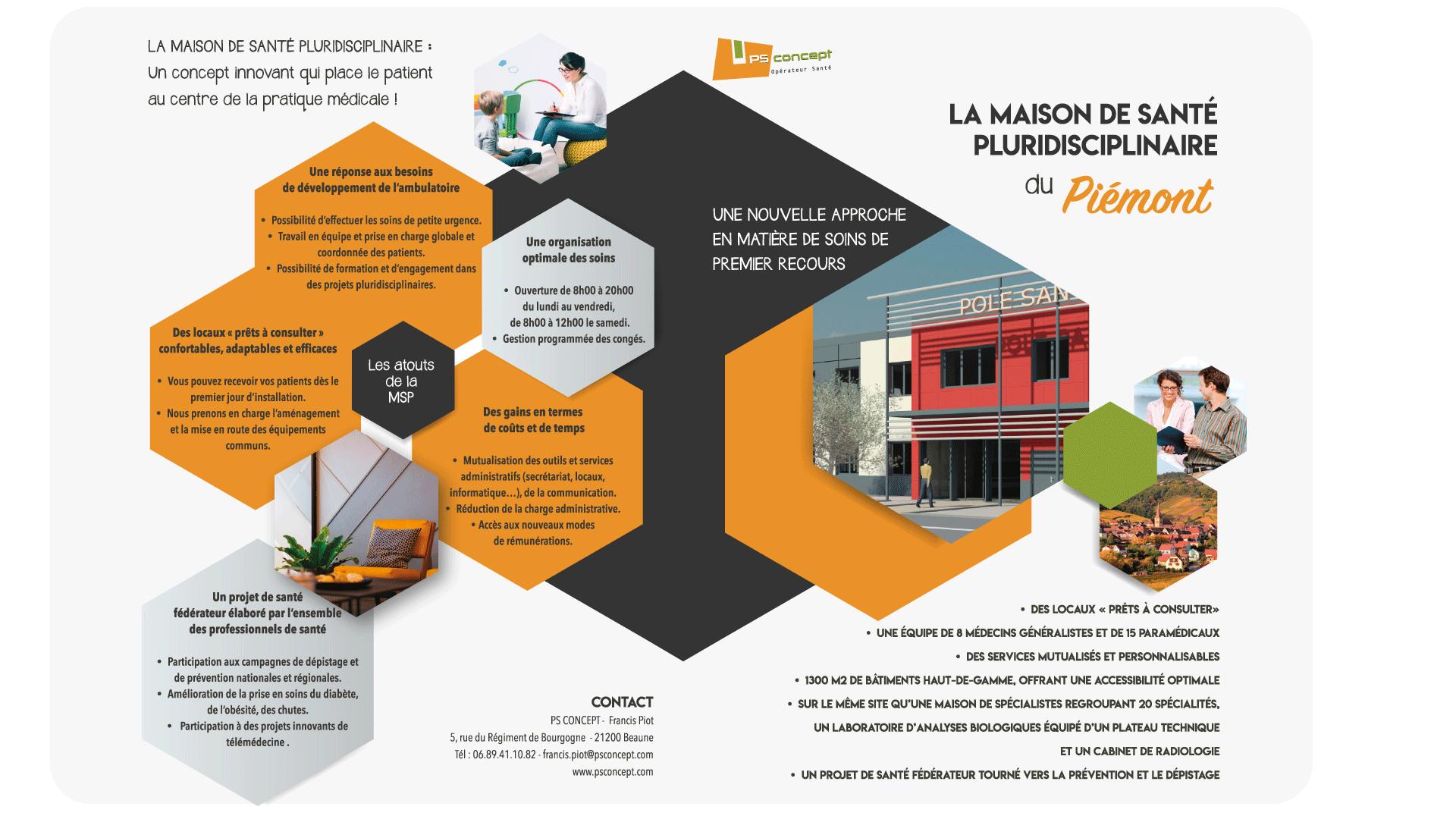 Plaquette MSP du Pôle Santé du Piémont