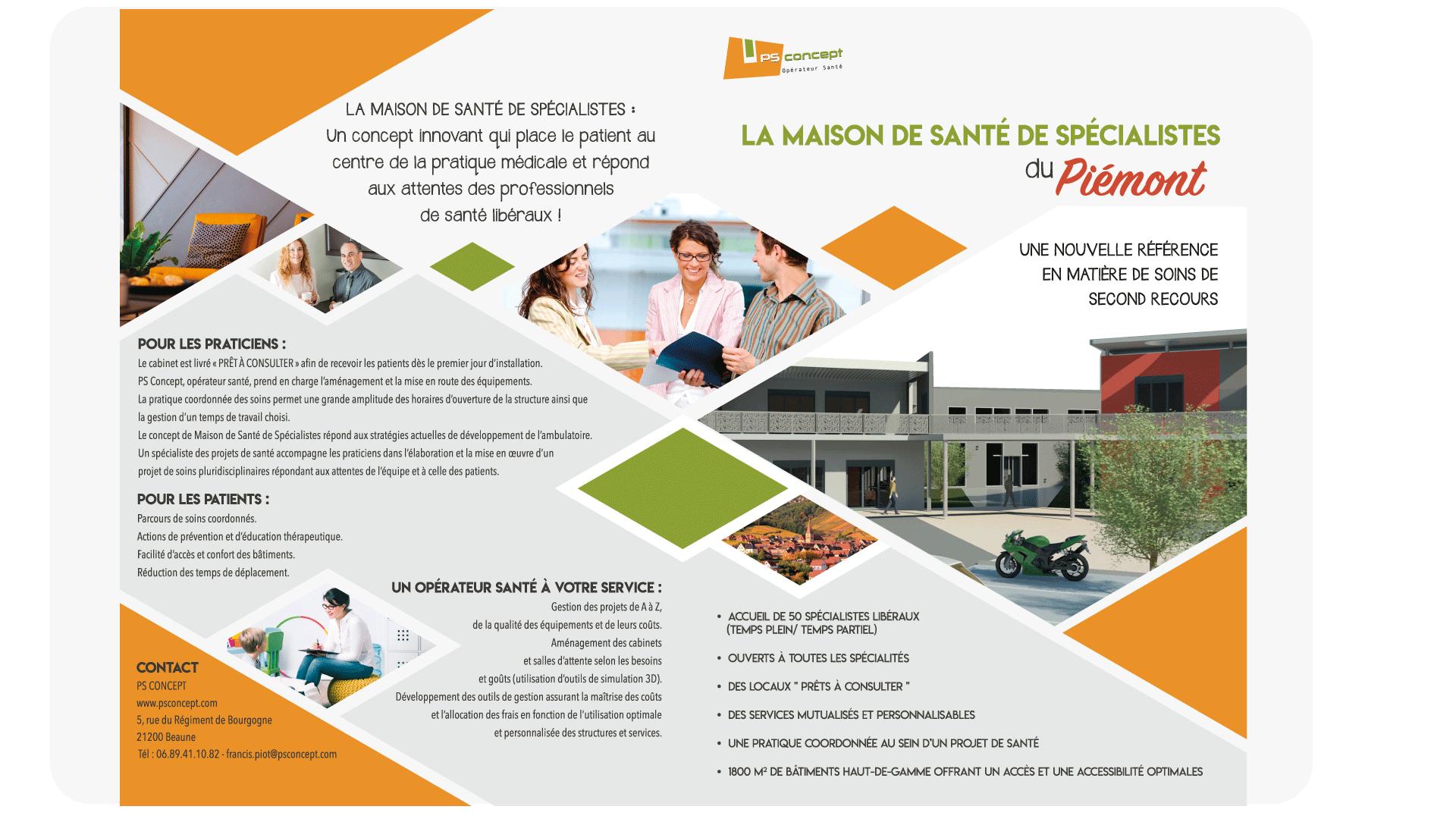 Plaquette Maison de Santé de Spécialistes du Pôle Santé du Piémont